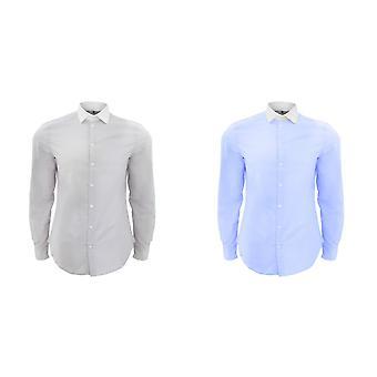 SOLS Mens Belmont contraste manches longues Popeline chemise formelle