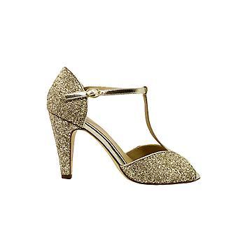 Anniel 1917lpcp Donne's Gold Glitter Sandals