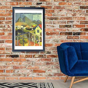 August Macke - A Balcony Poster Print Giclee