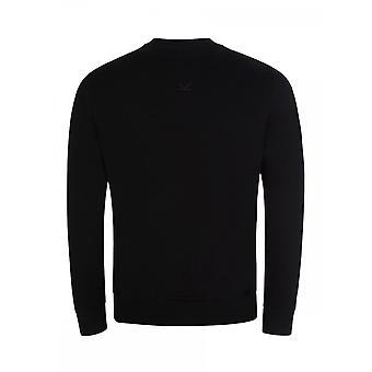 Kenzo Classic Kenzo Paris gestickt Esträgt Logo schwarz Sweatshirt