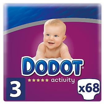 Dodot Activity Diaper Size 3 with 68 Units (Baby & Toddler , Diapering , Diapers)