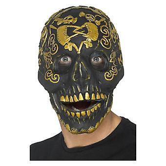 Deluxe maskerade dødningehoved maske