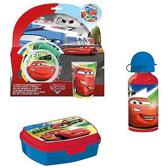 CARS breakfast set for children children's tableware Drinking bottle bread tin
