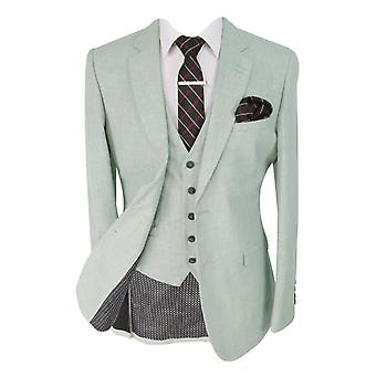 Designer Mens & Boys Matching Slim Ivory Light Grey Occasion Suit