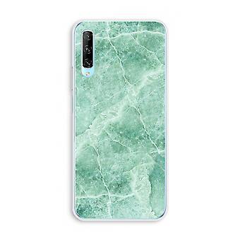 Huawei P Smart Pro gjennomsiktig sak (myk) - Grønn marmor