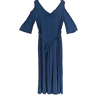 Einstellungen von Renee Petite Jumpsuits Cold Shoulder Flutter Slv Blue A294133