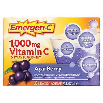 Emergen-c 1000 mg vitamin c, acai berry, 30 ea