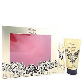Glam X Gift Set By Christina Aguilera 1 oz Eau De Parfum Spray + 5 oz Shower Gel