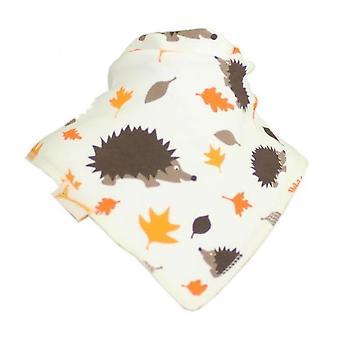 White autumn hedgehog bandana bib