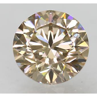 Cert 0,90 karaatin vaaleanruskea VVS1 pyöreä loistava luonnollinen löysä timantti 6.03m 3EX