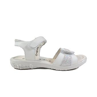 Ricosta Marie 6421700-811 Bianco White Leather Girls Rip Tape Sandals