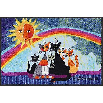 Rosina Wachtmeister deurmat zonnige familie 50 x 75 cm wasbaar vuil mat