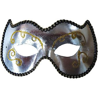 Opera Eye Mask Silver/Gold For Masquerade