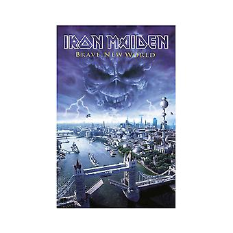 Iron Maiden Poster Brave New World Band Logo new Official Textile 70cm x 106cm