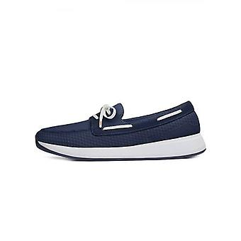 Swims Navy Breeze Wave Boat loafer