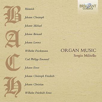 Bach, H./Bach, J.C./Bach, J. - Bach familj organmusik [CD] USA import