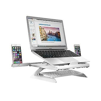 Adjustable Laptop Stand with Two Mobile Carriers