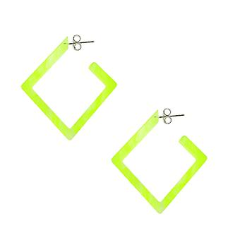 26mm Yellow UV Diamond Ear Hoop