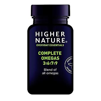 Higher Nature Complete Omega 3-6-7-9 Capsules 90 (QEO090)