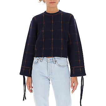 Chloé Chc20amp576009c0 Women's Blue Wool Sweater
