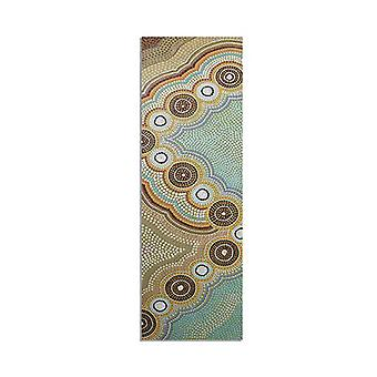 Oceans Garden Aboriginal Design Yoga Mat Eco Rubber
