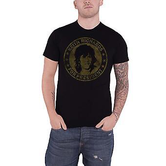 Rolling Stones T-paita Keith presidentille vintage uusi virallinen Miesten Musta