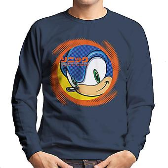 Sonic The Hedgehog Japanese Text Swirl Men's Sweatshirt