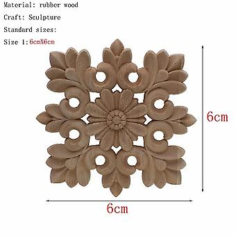 Unique Natural Floral Carved Wooden Figurines - Crafts Corner Appliques Frame Wall Door Furniture Woodcarving