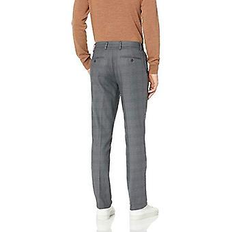 Merkki - Goodthreads Men's Straight-Fit Ryppytön Comfort Stretch Mekko Chino Pant, Grey Glen Plaid, 30W x 29L