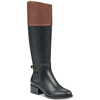 Tommy Hilfiger Womens Merritt Leather Closed Toe Knee High Fashion Boots