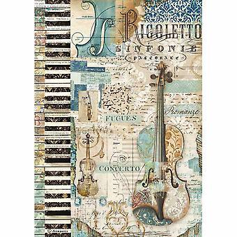ورقة الأرز A4 الموسيقى الكمان (DFSA4324)