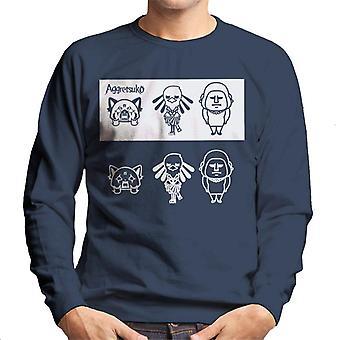 Aggretsuko Gori Washimi Retsuko Noir et Blanc Hommes's Sweatshirt