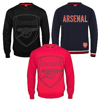 Arsenal FC officiella fotboll Gåva Mens Crest Sweatshirt Top
