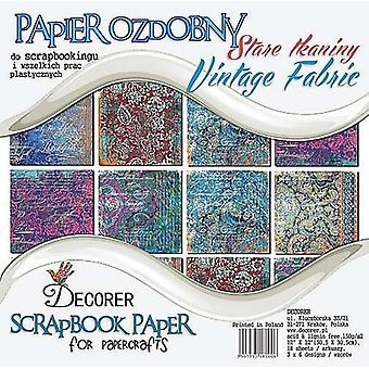 Decorer Vintage Fabric 12x12 inch Paper Pack