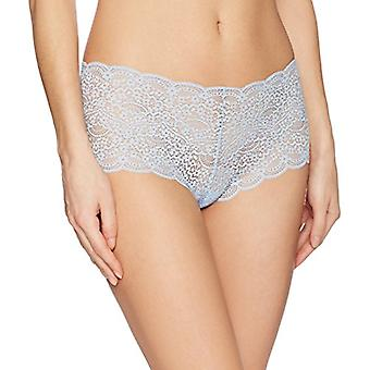 Brand - Mae Women's Galloon Lace Cheeky Panty, 3 Pack,Black/Dapple Gre...