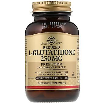 Solgar, Reduced L-Glutathione, 250 mg, 60 Vegetable Capsules