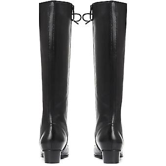 Regarde Le Ciel Womens Lace-Up Leather Knee High Boot