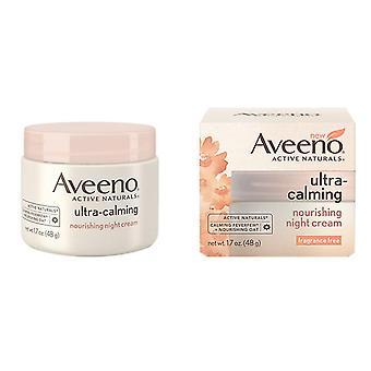 Aveeno ultra kalmerende voedende nachtcrème, 1,7 oz *