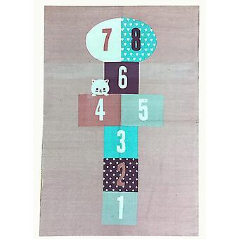Spura Home Novelty Beige Handmade Numbers Kids Rug 3x4 for Bedroom
