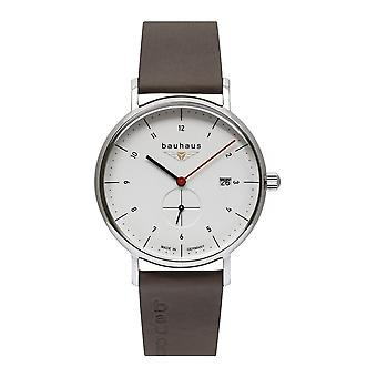 Bauhaus 2130-1 White Dial With Date Wristwatch