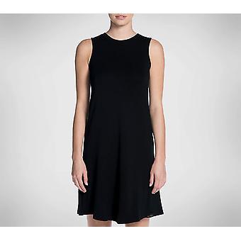 Skechers Women's Skechluxe Sleeveless Day Off Dress, Bold Black, S