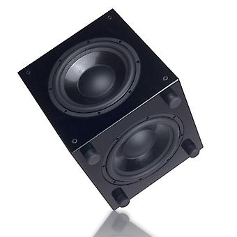 "Qs-10 10"" Inch Powered Subwoofer Active Sub Piano Lacquer Paint Active+passive"