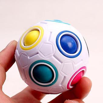 Sateenkaaren värit-taika pallo stressin lievittäjä palapelit - Kompakti ja kannettava