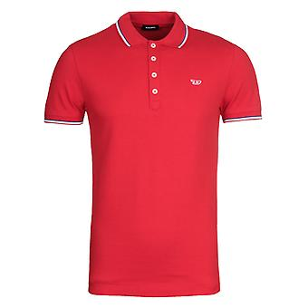 Diesel T-Randy Twin Tipped Red Polo Shirt