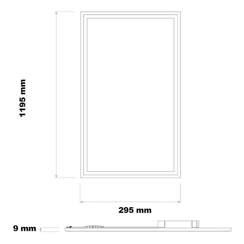 40w 120x30cm Slim Led Panel White Frame - Lifud