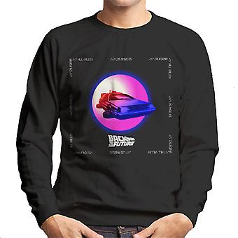 Back to the Future Delorean Purple Moon Men's Sweatshirt