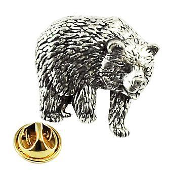 Ties Planet Bear English Pewter Lapel Pin Badge