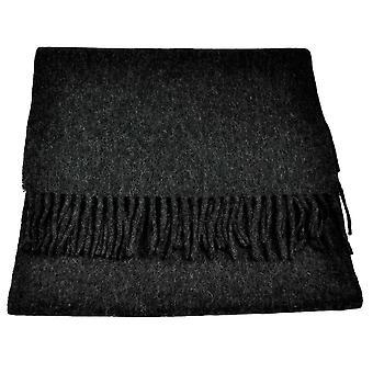 Krawatten Planet Tresanti Celeste 100 % feinste mongolische Jungfrau Wolle schlicht Kohle Schal