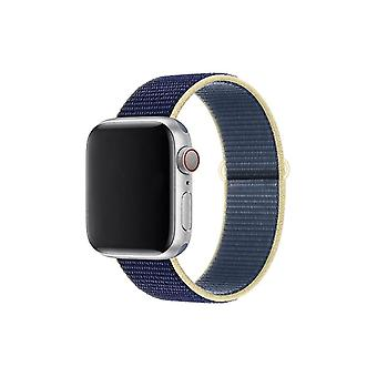 Nylon armbånd stropp Band For Apple Watch 5 4 3 2 38mm 40mm 42mm 44mm