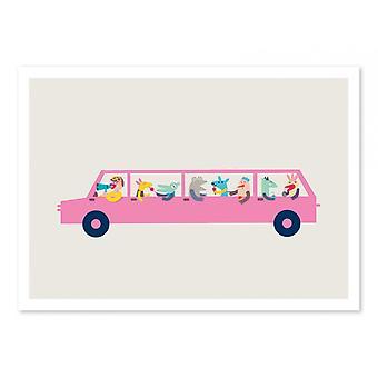 Art-Poster - Pink car - Judy Kaufmann 50 x 70 cm